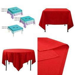 "70 X 70"" Square Tablecloth 100% Polyester Washable Table Clo"