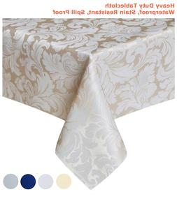 "Tektrum 70""X70"" Square Damask Tablecloth-Waterproof/Stain Re"