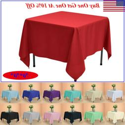 """70x70"""" Square Tablecloth Polyester Table Cover for Wedding P"""
