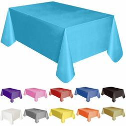 """72""""*54"""" Plastic Rectangle Table Cover Cloth Wipe Clean Party"""