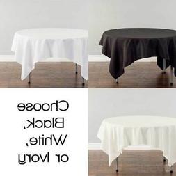 """72""""x72"""" Square Polyester Tablecloth Fabric Linen Cloth Dinne"""