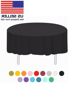 "84"" Round Banquet Plastic Table Cover Cloth Heavy Duty Table"