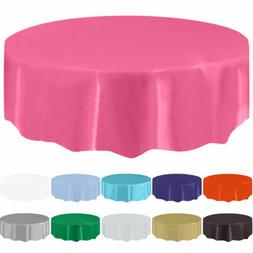 "84"" Round Tablecloth Table Cover For Wedding Banquet Party R"