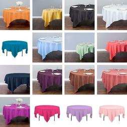 LinenTablecloth 85 in. Square Polyester Tablecloth - 33 Colo