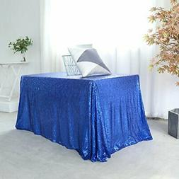 90 x 132 inch royal blue sequin