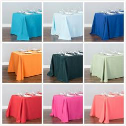 LinenTablecloth 90 x 156 in. Rectangular Poly Tablecloths ,