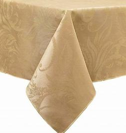 """""""Autumn Scroll Damask Table Cloth"""" - 60""""X144"""" - Gold - NEW!"""