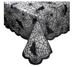 Benson Mills Halloween Lace Tablecloth, Black