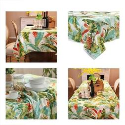 ColorBird Tropical Leaves Tablecloth Cotton Dust-proof Cover