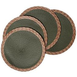 Creative Dining Group Multi Color Border Braided Round Place