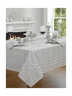 """Creative Dining Group Shimmer Fabric Tablecloth 52 by 70"""" Si"""