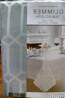 """Creative Dining Group Shimmer Fabric Tablecloth 60 by 84"""" Si"""