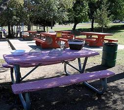Custom Stay Put Fitted Tablecloth Table Cover for a Picnic,