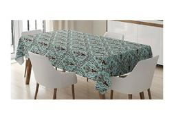 Damask Decor Tablecloth by Ambesonne, Classics Fabric Design