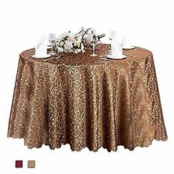 Eforcurtain 108 Inch Round Classic Restaurant Tablecloth Jac