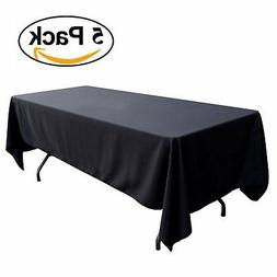 GFCC 60 x 102 -Inch Polyester Rectangle Table Cover- 5 Packa