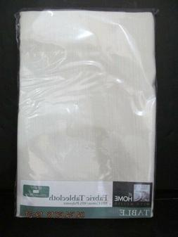Ivory Table Cloth, At Home with Meijer, 52 x 70, Cotton Poly