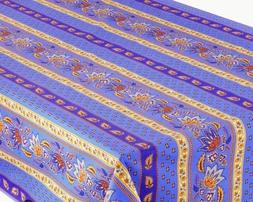 LE CLUNY, LISA BLUE, FRENCH PROVENCE 100% COATED COTTON TABL