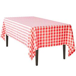 LinenTablecloth 60 x 102-Inch Rectangular Tablecloth Red & W