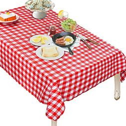 OUWIN 100% Waterproof Rectangle Tablecloth Spill-Proof Wipea