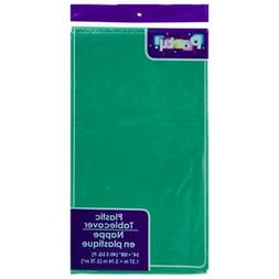 PACK OF 4: Disposable GREEN Plastic Tablecloths / Table Cove