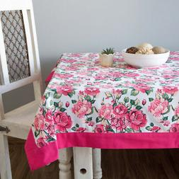 ShalinIndia Cotton Tablecloths - multicolour - 60 inches by
