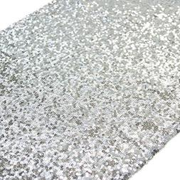 TRLYC 12''x108'' SALE! Choose your Size, Sequin Tablecloth,