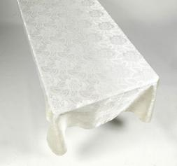 Tablecloth Table Cloth 60 x 84 Rose Damask Pattern in Color