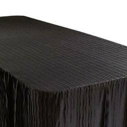 The Folding Table Cloth® For 6 Foot Tables, Black Color  2p