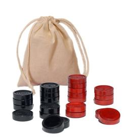 WE Games Wood Checkers with Stackable Ridge - Red/Black