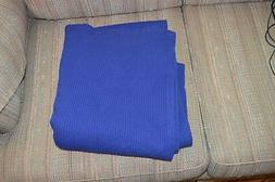 "Washable Eddie Bauer Waffle Material Table Cloth 54""x54"" Blu"
