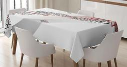Abstract Tablecloth Ambesonne 3 Sizes Rectangular Table Cove