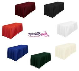 LinenTablecloth Accordion Pleat Polyester Table Skirt, 3 Siz