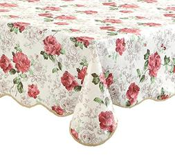 Artisan Flair AF5472-017 Pink Rose Kitchen Tablecloth For Di