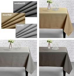 Aiking Home Classic Woven Fine Faux Linen Table Cloth-Size 5