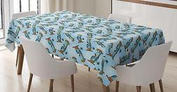 Airplane Tablecloth Ambesonne 3 Sizes Rectangular Table Cove