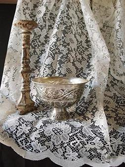 AK-Trading Floral Lace Crochet Tablecloth Overlay Table Cove