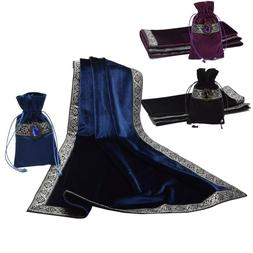 Altar Tarot Table Cloth Bag Decor Divination Cards Wicca Squ