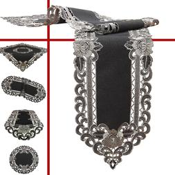 Amazing Grey Tablecloth Table runner Placemats doily in Line
