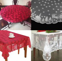 Antique Lace Tablecloth Rectangle Round Table Cloth Cover We