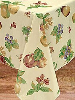 Apple Delicious Flannel Backed Vinyl Tablecloth, 60x84 Oblon