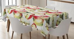Apple Tablecloth Ambesonne 3 Sizes Available Rectangular Tab