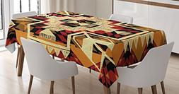 Arrow Decor Tablecloth by Ambesonne, Native American Inspire