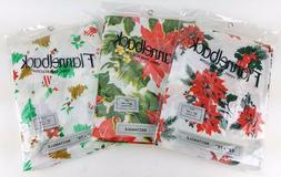 3 PACK LOT ASSORTED FLANNEL BACK CHRISTMAS DESIGN TABLE CLOT