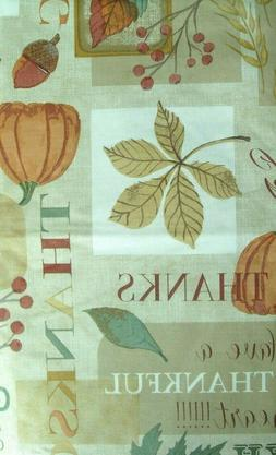 Assorted Sizes Vinyl Flannel Back Tablecloth Fall Harvest Mu