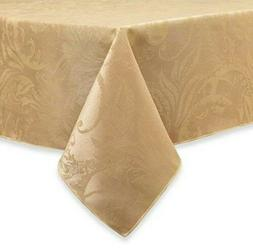 Autumn Scroll Gold Damask Fabric Tablecloth Table Cloth 60x1