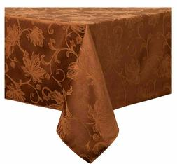 autumn vine damask tablecloth in bronze choice