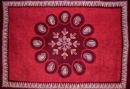 """Batik Tapestry Cotton Wall Hanging or Tablecloth 90"""" x 60"""" R"""