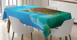 Beautiful Turtle deep sea print Tablecloth by Ambesonne mura
