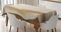 Beautiful Wavy Marble design Tablecloth by Ambesonne mural19